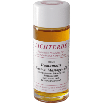 Hamamelisöl (Zaubernuss) 100ml – 100% naturreines Hamamelis Massageöl